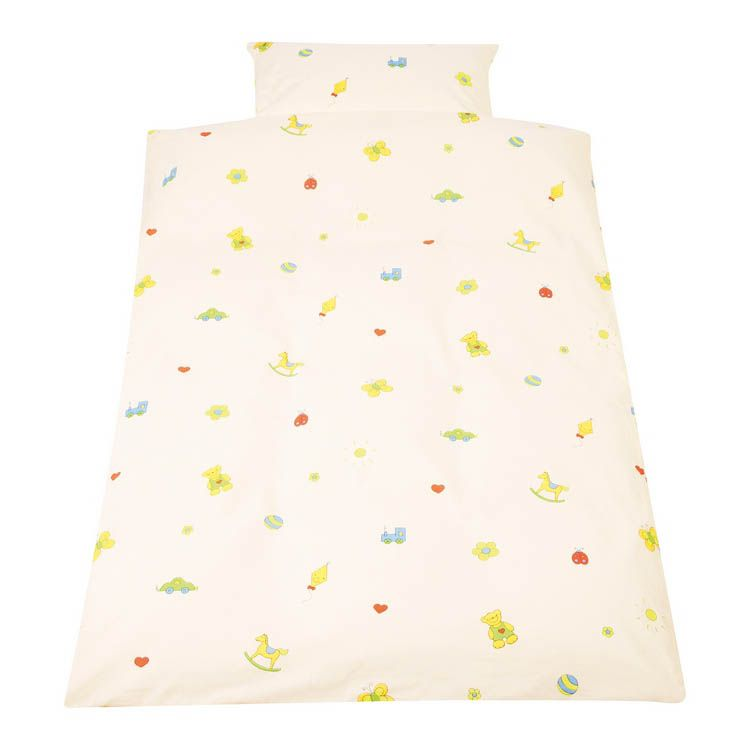 Kinderbettwäsche Pino´s Spielwelt – Kissen- & Bettbezug – Beige, Pinolino online kaufen