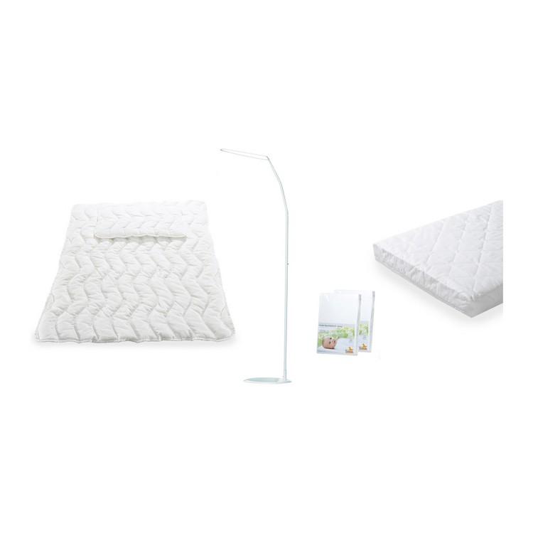 Komfort Starter Kit (4-teilig) - Matratze, Kopfkissen, Bettdecke & 2 Spannbetttücher, Pinolino