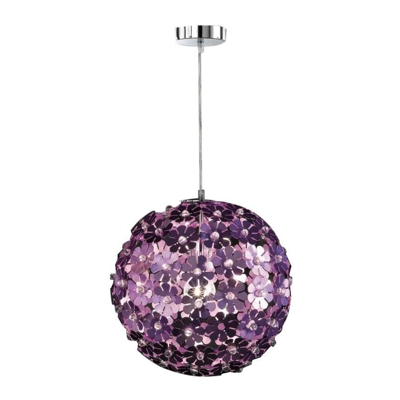 Haengeleuchte-Pendelleuchte Purple - 1-flammig - Durchmesser 35 cm, Honsel