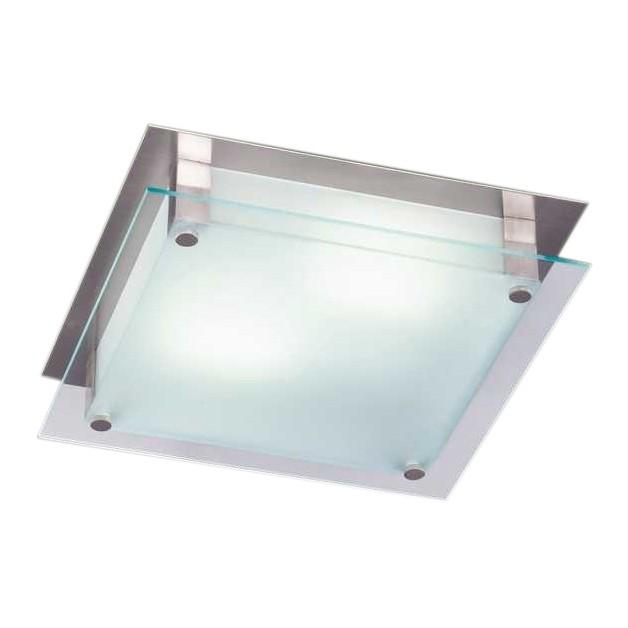 EEK A++, Deckenleuchte Quadra – 28 x 28 cm – Glas satiniert/ Nickel matt, Honsel online kaufen