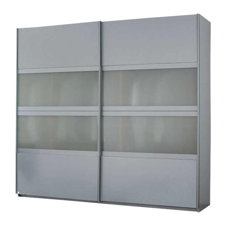Schwebetürenschrank Quadra – Alu Dekor/Milchglas – Breite x Höhe: 315 x 230 cm, Rauch Pack´s online kaufen