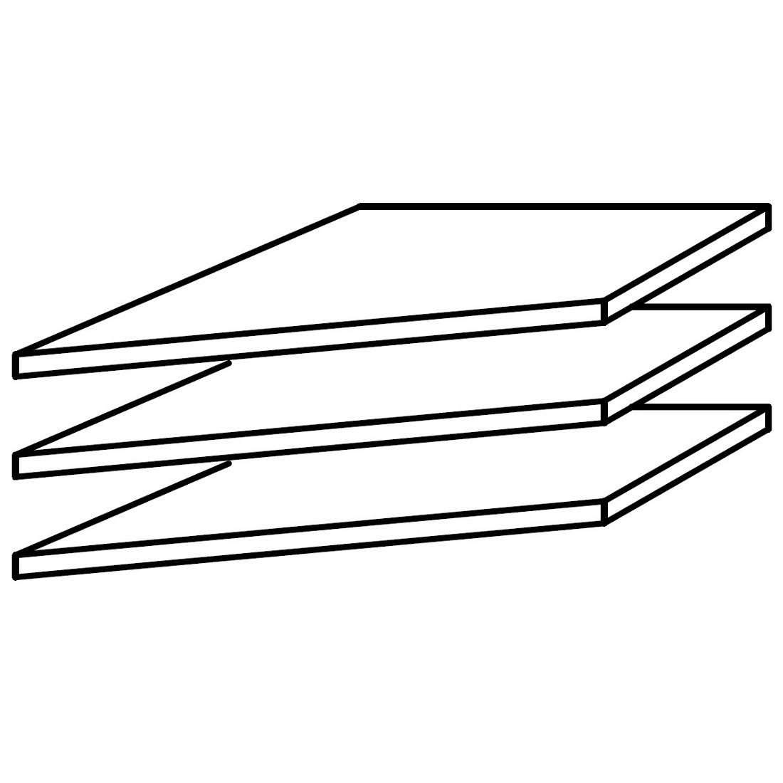 39er Fachboden Eckschrank (3er-Set)