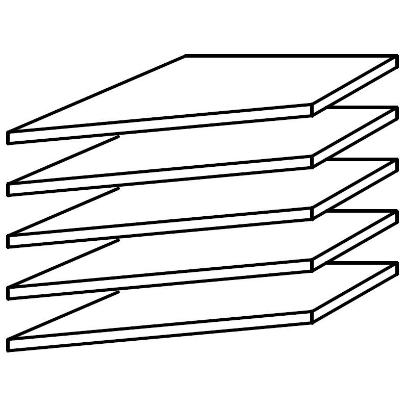 39er Fachboden Eckschrank (5er-Set)