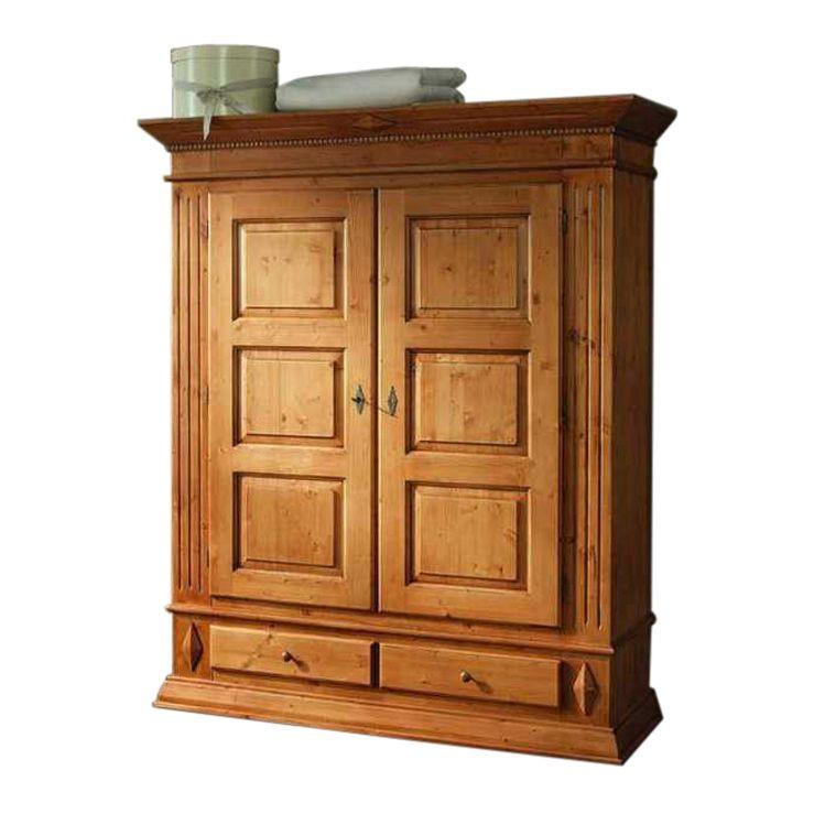 kleiderschrank rivoli aus massiver fichte. Black Bedroom Furniture Sets. Home Design Ideas