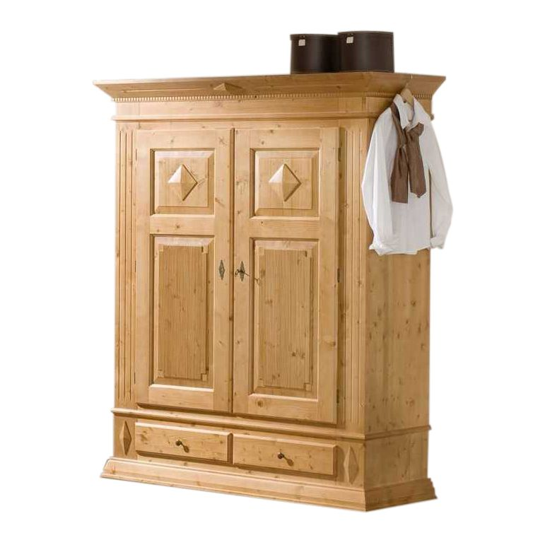 kleiderschrank rivoli mit dekor fichte. Black Bedroom Furniture Sets. Home Design Ideas