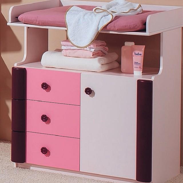 Rosalie Wickelauflage - 100% Baumwolle - verschiedene Farben (Rosé)