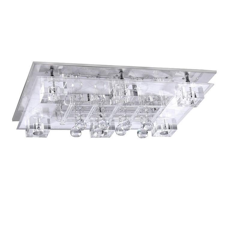 led deckenleuchte roxane metall glas chrom 45x66 cm leuchten direkt b jetzt bestellen. Black Bedroom Furniture Sets. Home Design Ideas