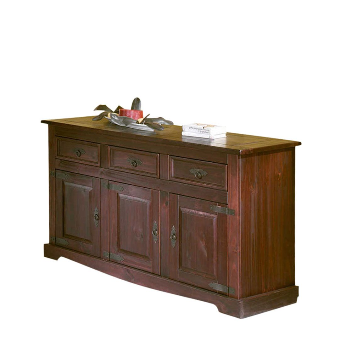 Sideboard san carlos iii massivholz kiefer kolonial for Sideboard massivholz