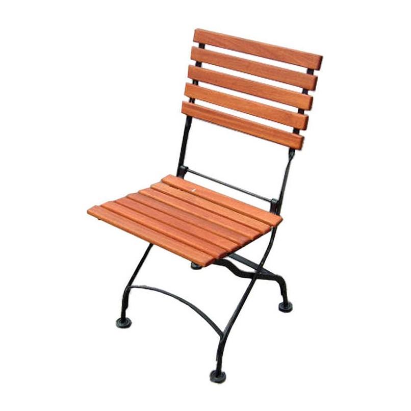 klappstuhl schlossgarten 2er set flachstahl eukalyptusholz schwarz naturbraun merxx. Black Bedroom Furniture Sets. Home Design Ideas
