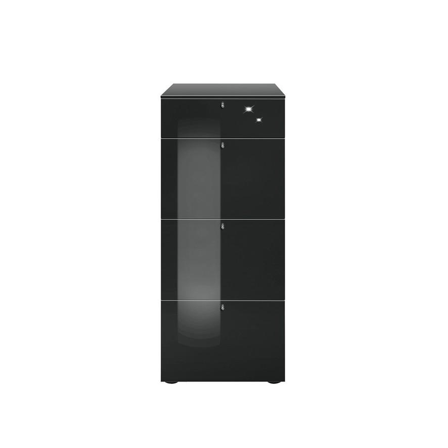 hochkommode solo schwarz. Black Bedroom Furniture Sets. Home Design Ideas