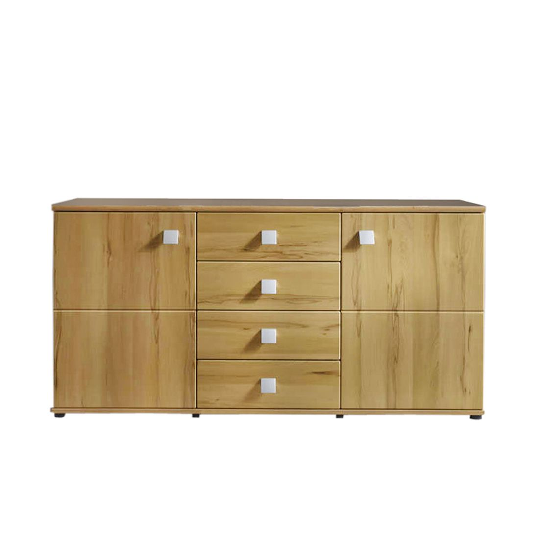 sideboard santa buchendekor 4 schubf cher 2 t ren. Black Bedroom Furniture Sets. Home Design Ideas