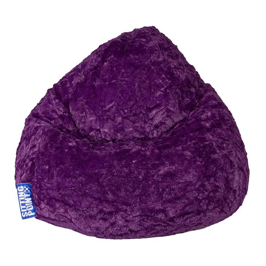 Sitzsack Fluffy L – Webplüsch Aubergine, Fredriks günstig online kaufen