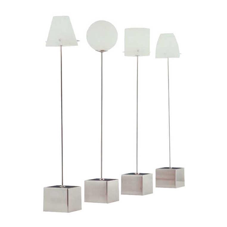 Tischleuchte Slim Kegel ● Silber/Weiß ● 1-flammig- Sompex A++