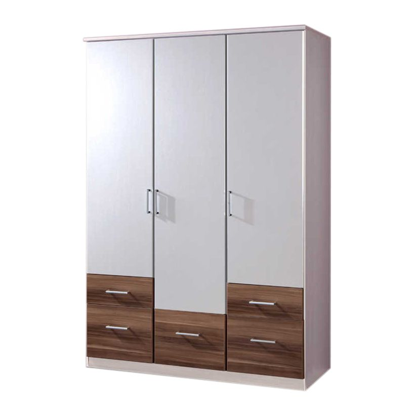 dreht renschrank swing alpinwei franz sisch nussbaum dekor schrankbreite 135 cm 3 t rig. Black Bedroom Furniture Sets. Home Design Ideas