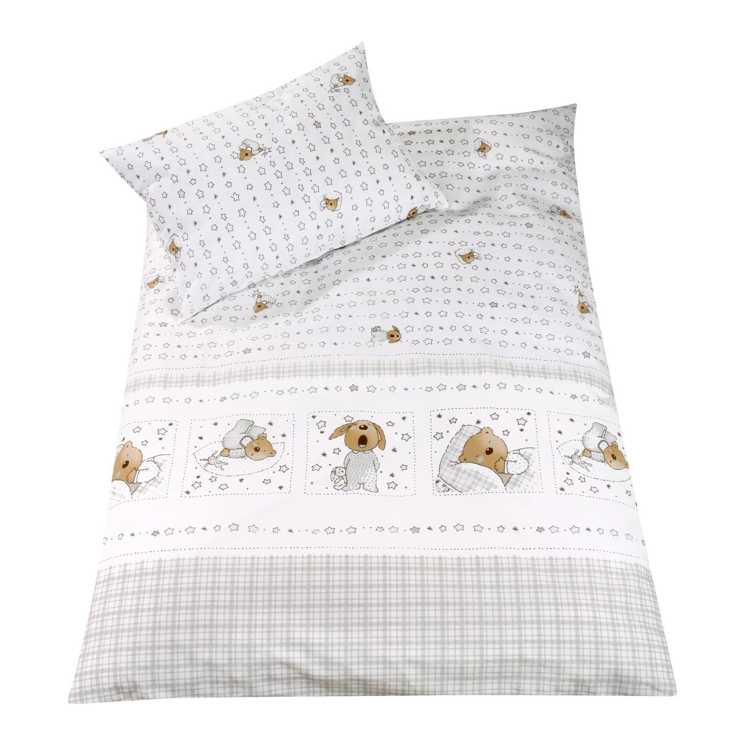 Babybettwäsche Sweet Dreams (2-teilig) – Decken- & Kissenbezug – Weiß – 80 cm x 80 cm & 35 cm x 40 cm, Julius Zöllner günstig kaufen