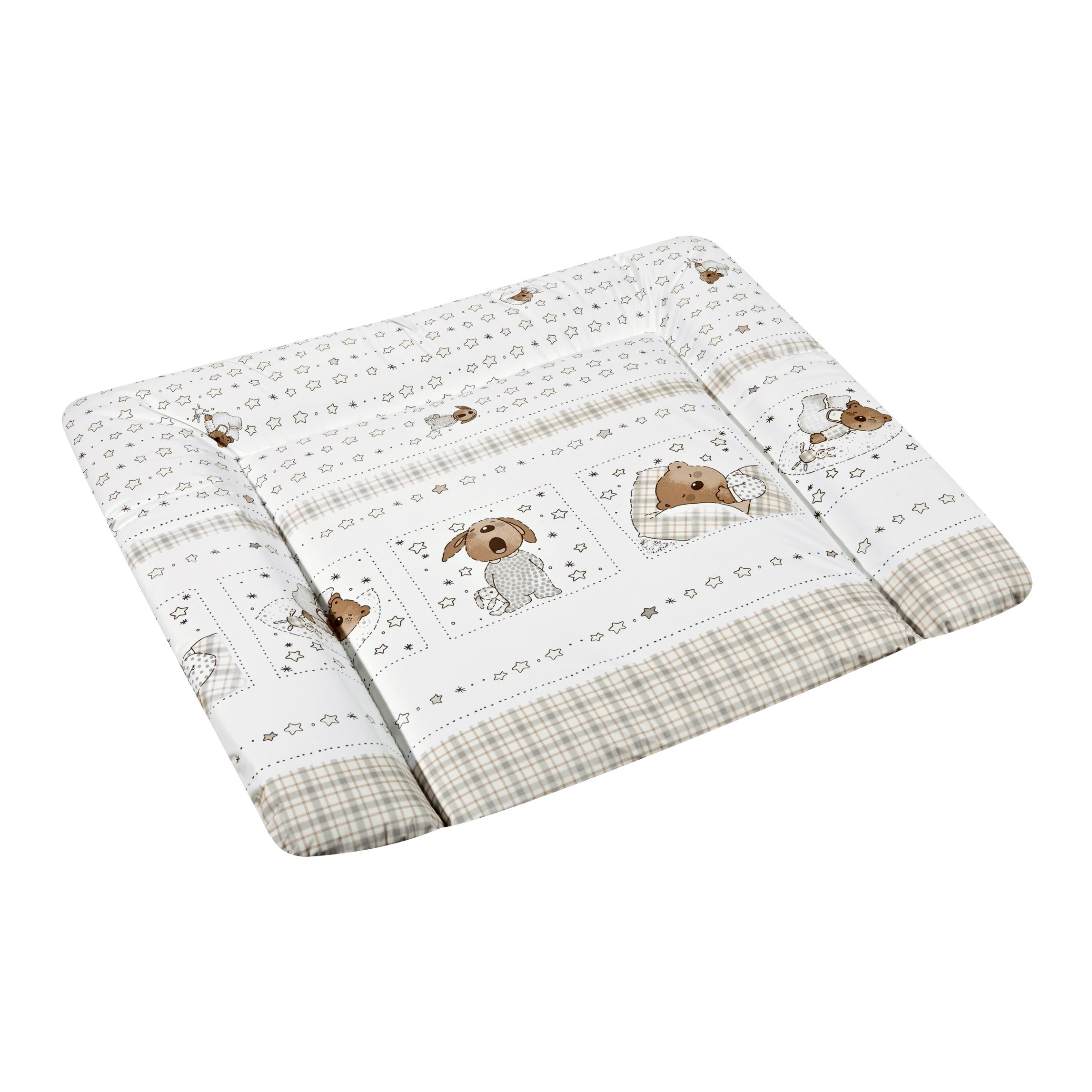 Wickelauflage Sweet Dreams Softy – Weiß mit Bärchenmotiven