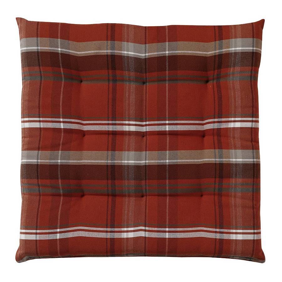 sitzkissen t new check rot 40 x 40 cm tom tailor online bestellen. Black Bedroom Furniture Sets. Home Design Ideas