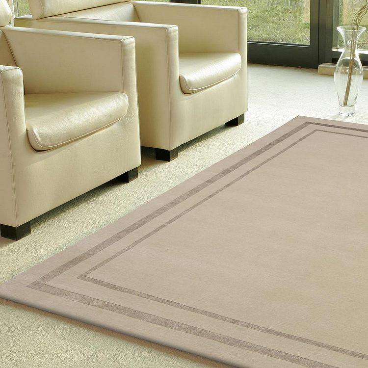 Nepalteppich Impression Effect – Wolle/Hellbraun – 140 x 200cm, Talis Teppiche kaufen