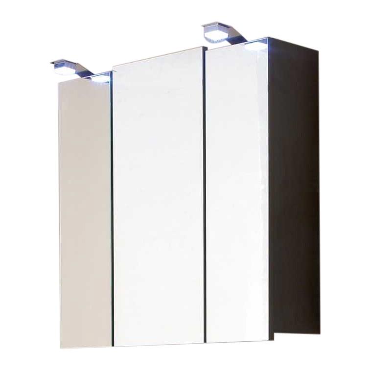 Spiegelschrank Tara - mit LED-Lampen - Walnuss (Anthrazit)
