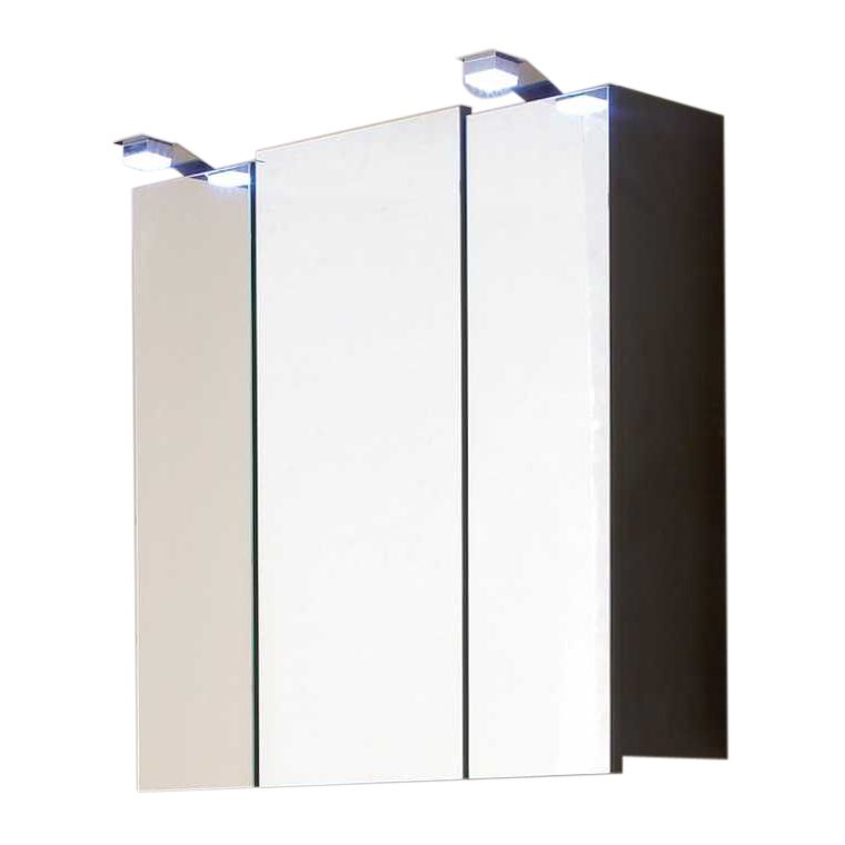 spiegelschrank tara mit led lampen walnuss anthrazit. Black Bedroom Furniture Sets. Home Design Ideas