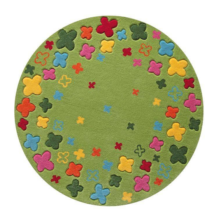 Teppich ESPRIT Bloom Field – Grün – Durchmesser: 100 cm, Esprit Home günstig online kaufen