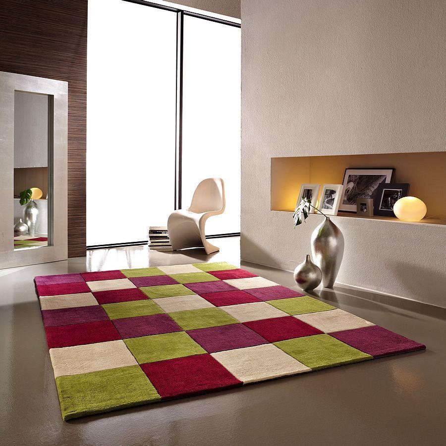 Teppich Oviedo – Farbe GrünLila – 170x240cm, andiamo – M