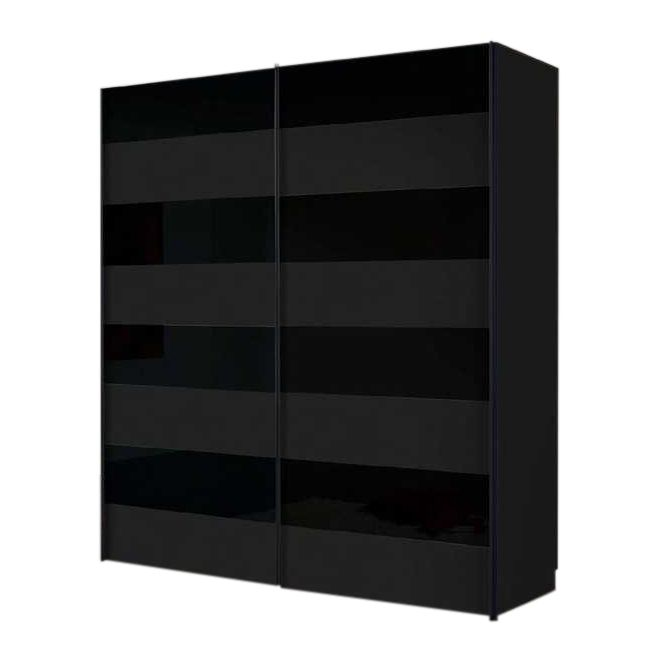 schwebet renschrank texas schwarzglas matt gl nzend. Black Bedroom Furniture Sets. Home Design Ideas
