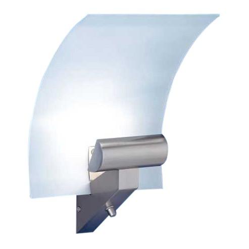 Wandleuchte - 1-flammig - mit Drehdimmer - Metall, Glas satiniert, Paul Neuhaus