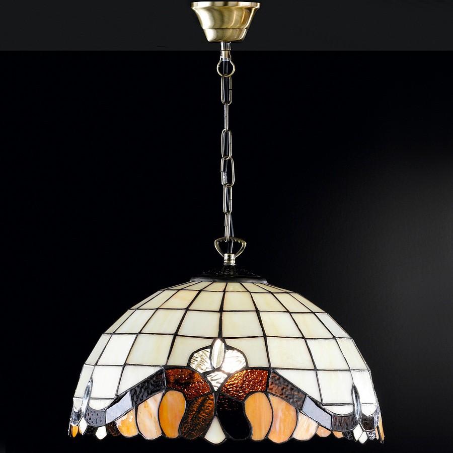 EEK A++, Tiffany-Pendelleuchte Barock – 1-flammig, Honsel kaufen