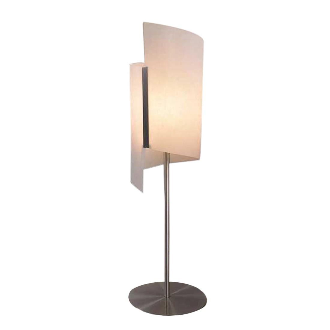 Tischleuchte Helix ● Höhe 53cm ● Aluminium geschliffen- Lunopal weiß- Usus A