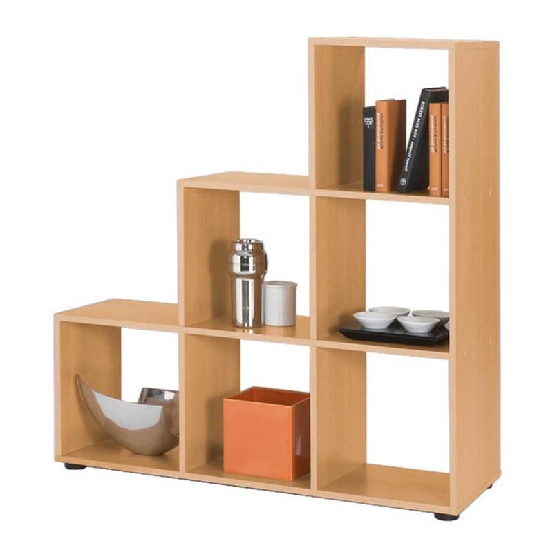 Raumteiler Toria - 6 Fächer/3 Ablageflächen - Buche-Dekor