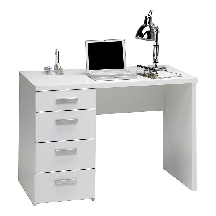 Bureau pegasus met 2 lades wit home24 office in de for Home24 office