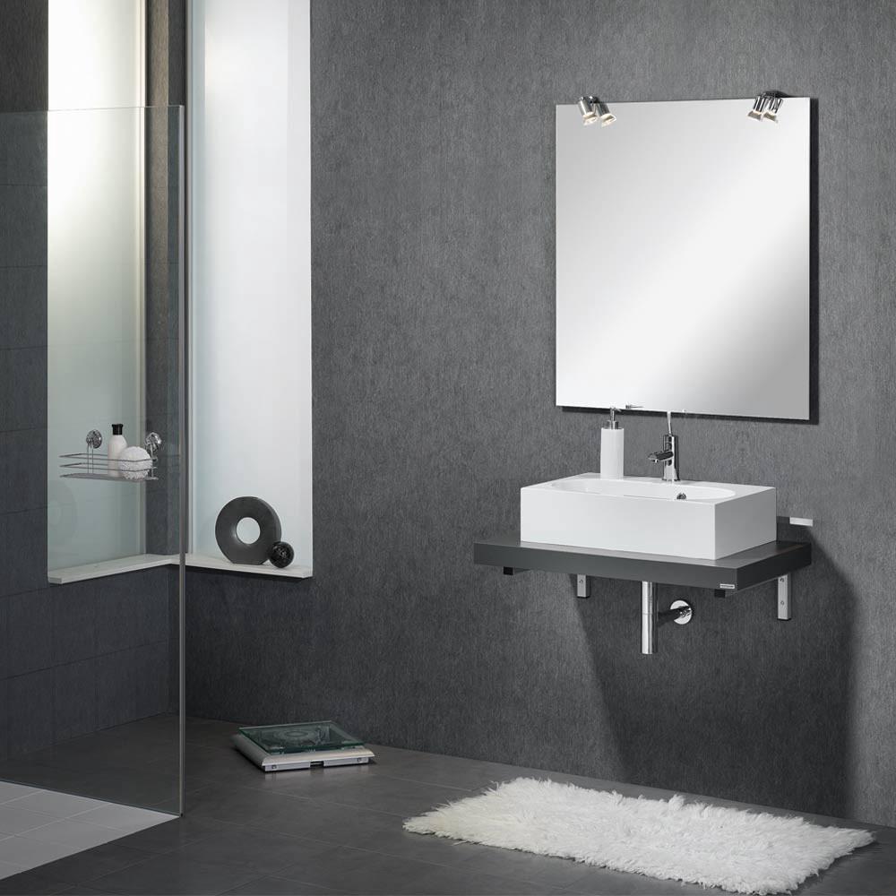 Waschplatz Vanity – Anthrazit – Mit Spiegel & Beleuchtung, Fackelmann günstig kaufen