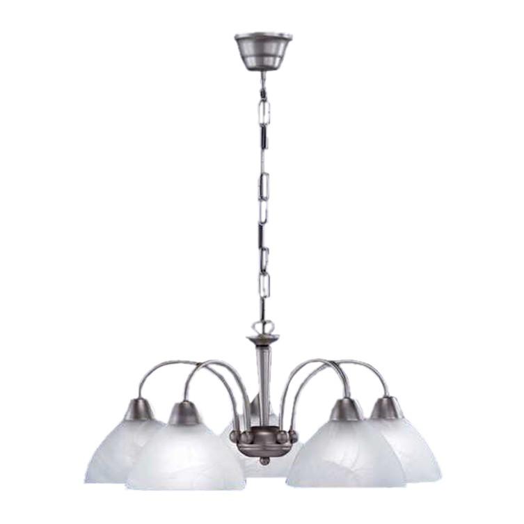 EEK A++, Pendelleuchte Vegas – 5-flammig – Stahl/Glas satiniert – Silber/Weiß, Paul Neuhaus jetzt kaufen