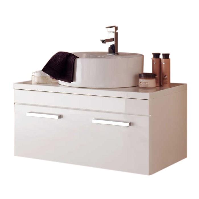Waschbeckenunterschrank Victoria - 80cm - weiß Hochglanz