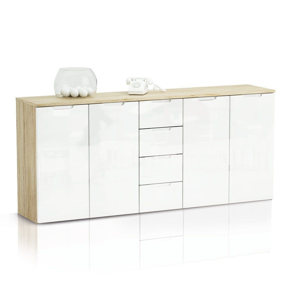 sideboard brooke 4 schubladen wei eiche dekor s gerau. Black Bedroom Furniture Sets. Home Design Ideas