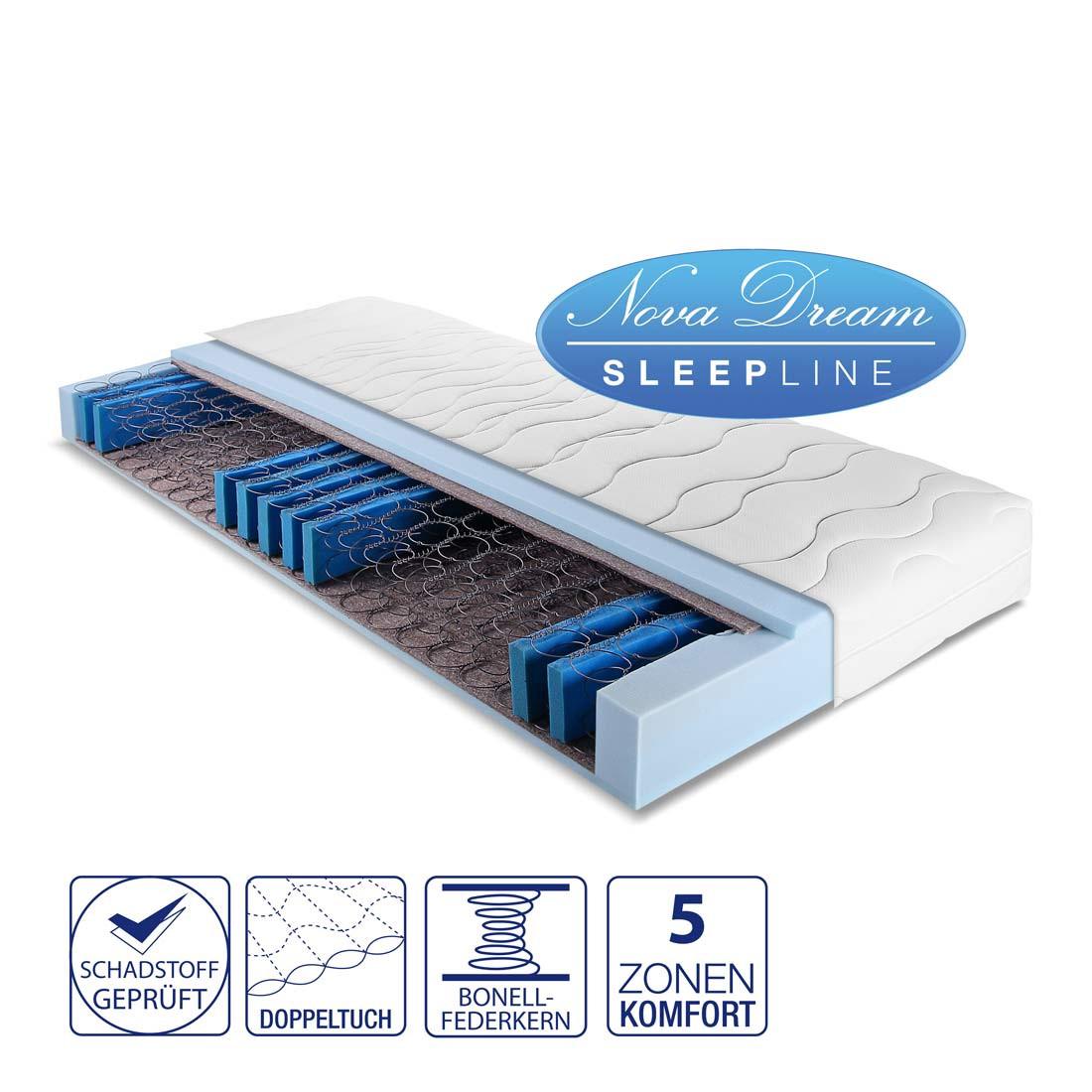 5-Zonen Federkernmatratze Big – 100 x 200cm – H2 bis 80 kg, Nova Dream Sleepline kaufen
