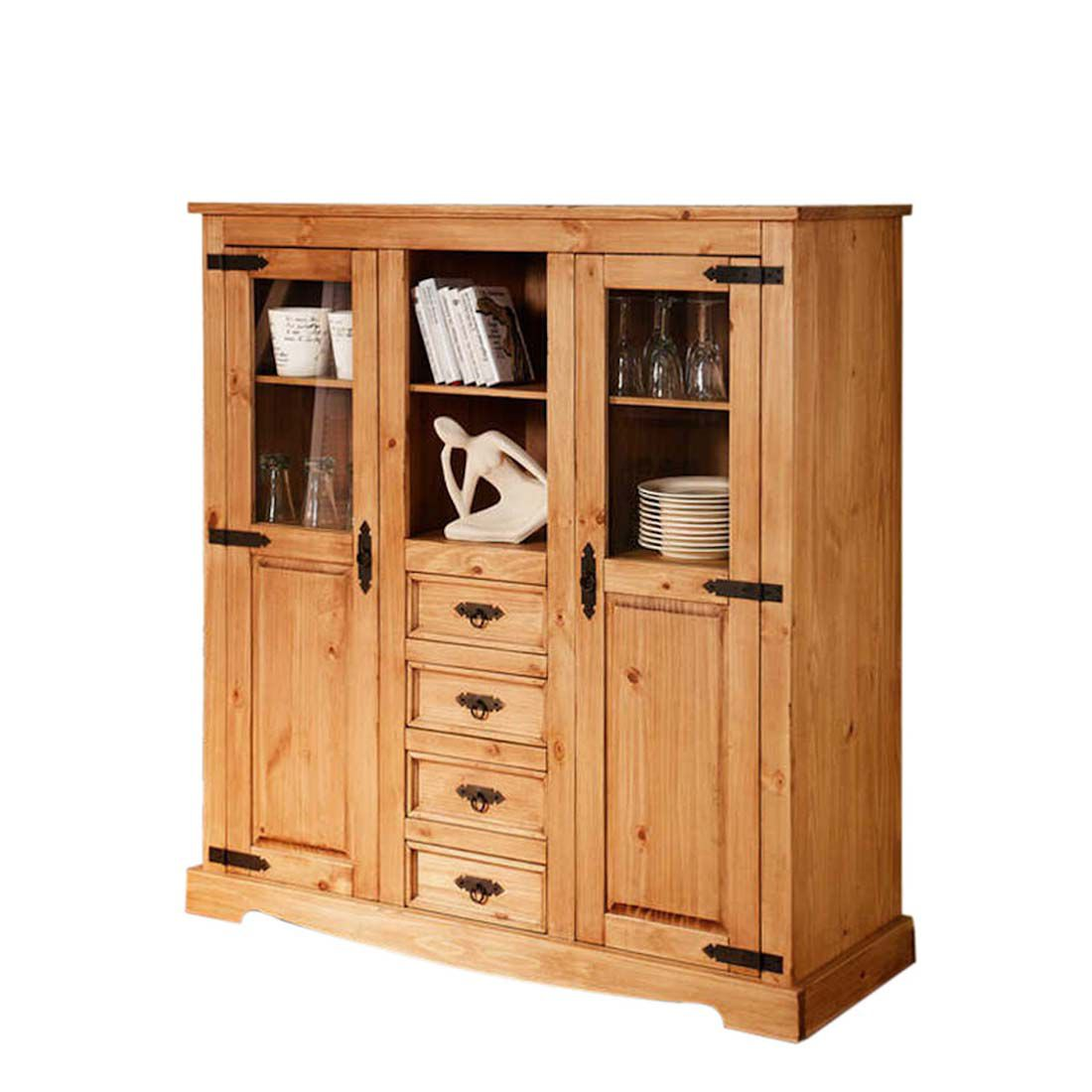 Highboard Zacateca Kiefer Massiv Antik Schrank Info