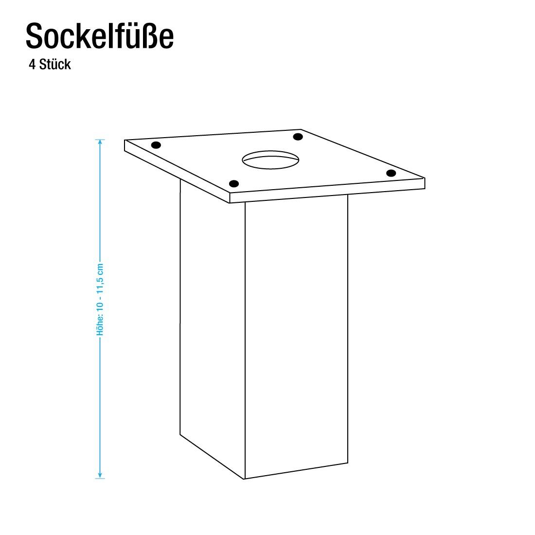 Sockelfuß-Set Lausanne (4 Stk.) - Alufarben