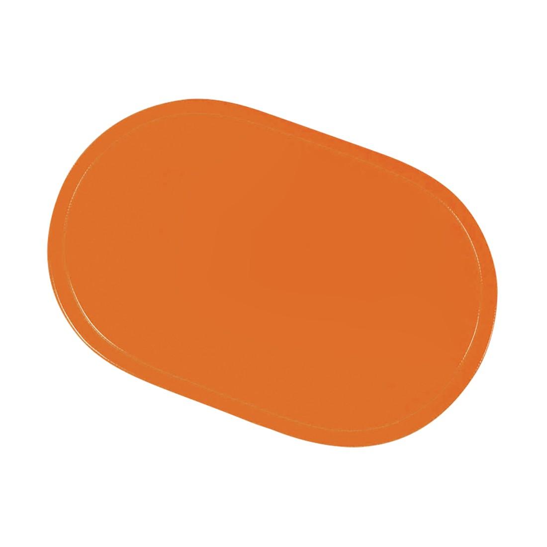 12er-Set Tischset oval – Kunststoff Orange, Saleen günstig kaufen