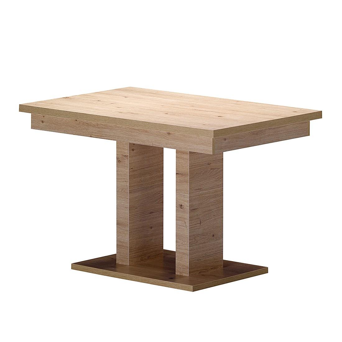 2 Säulentisch San Remo – Sonoma Eiche Dekor, Modoform günstig