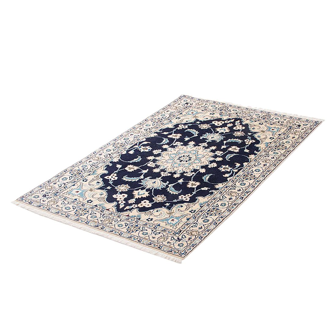 Teppich Khorasan Nain - Schwarz - 200 x 300 cm, Parwis
