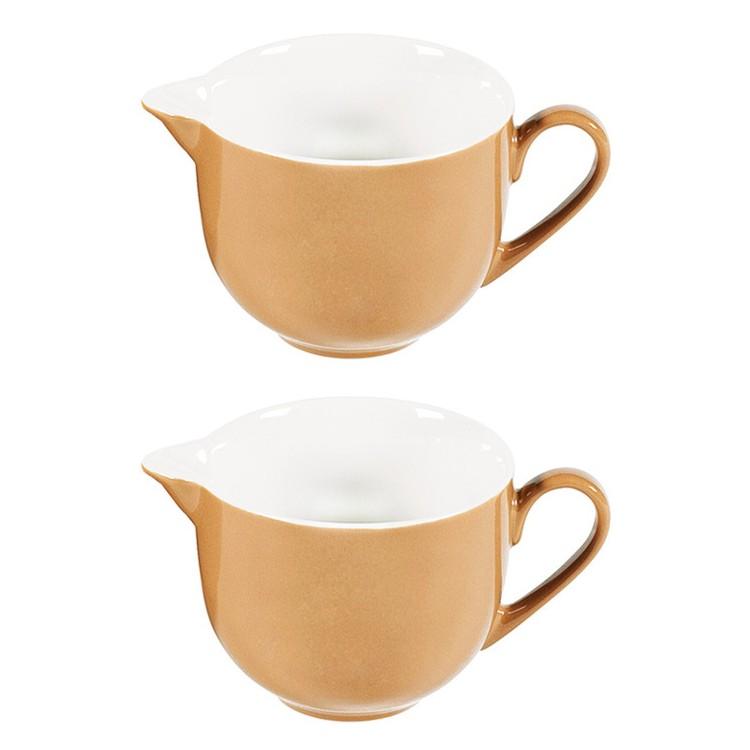 2er-Set Milchkännchen Doppio 160 ml – Porzellan Nougat, flirt günstig online kaufen