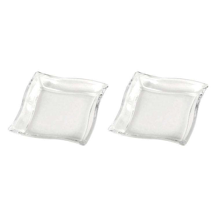 2er-Set Teller DOOS glatt 21 cm – Glas Transparent, Walther Glas günstig