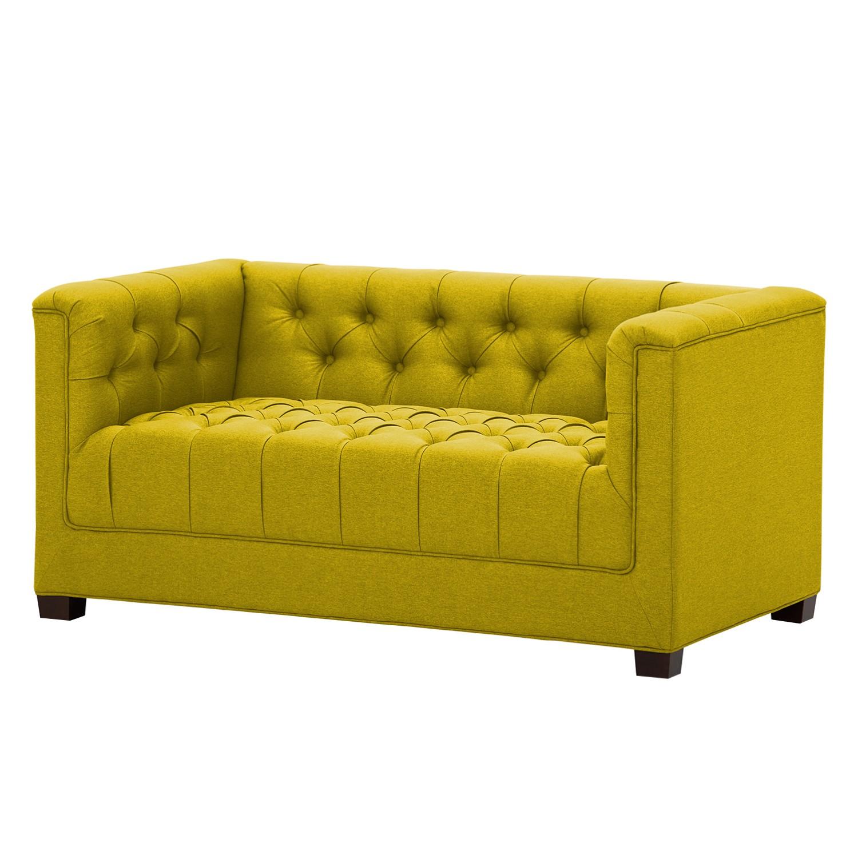 Sofa Grand (2-Sitzer) - Webstoff - Stoff Milan Gelb, Jack and Alice