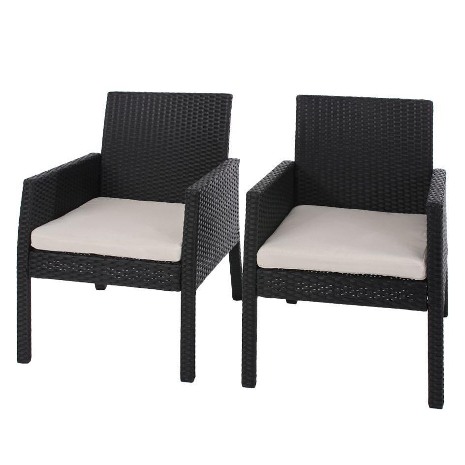 gartensessel porto 2er set inkl sitzkissen anthrazit mendler online kaufen. Black Bedroom Furniture Sets. Home Design Ideas