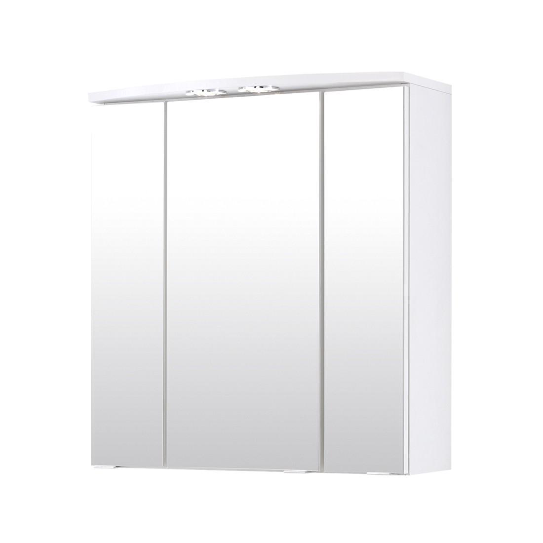 3D Spiegelschrank Kopenhagen (mit Beleuchtung) - Weiß, Giessbach