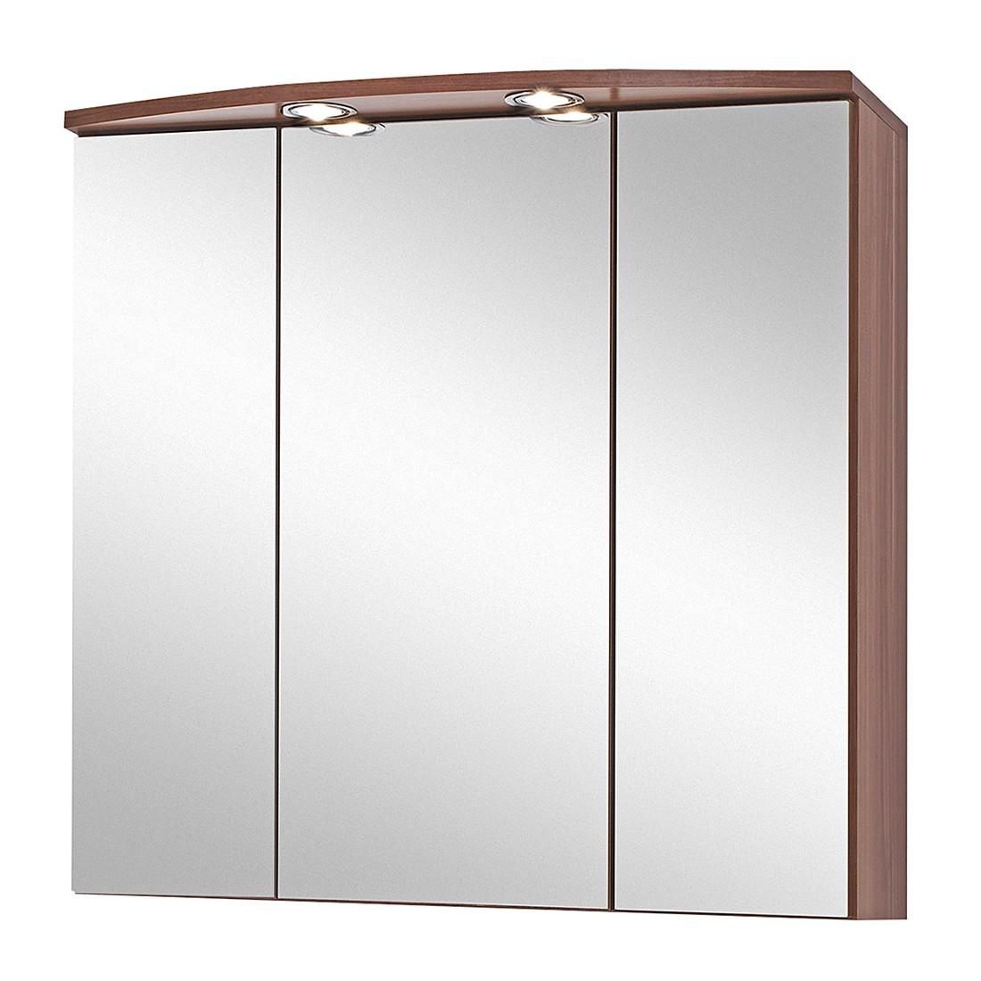 3d spiegelschrank marino nussbaum dekor for 3d spiegelschrank