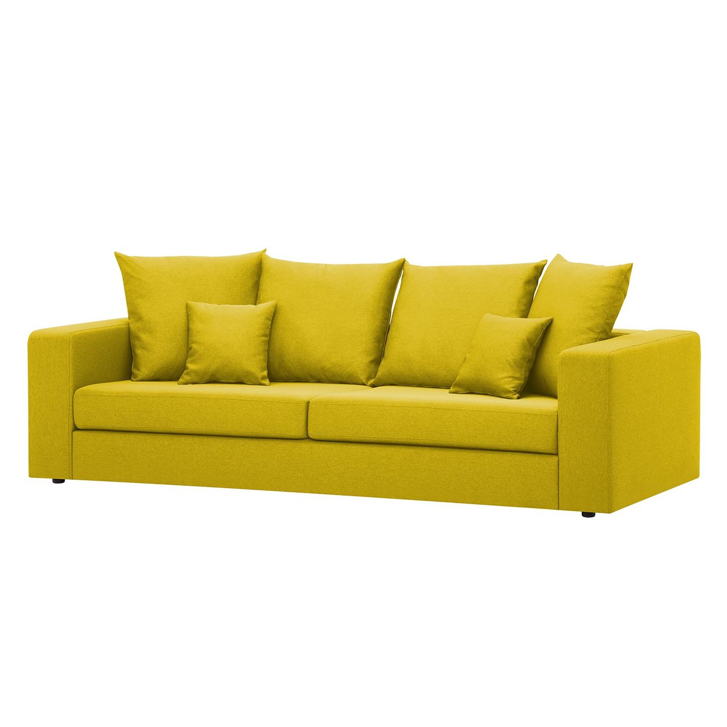 Sofa Bilbao (3-Sitzer) - Webstoff - Stoff Milan Gelb, Fredriks