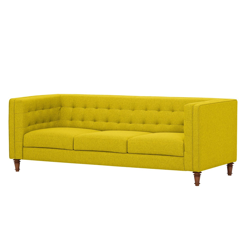 Sofa Buckingham (3-Sitzer) - Webstoff - Stoff Milan Gelb, Jack and Alice